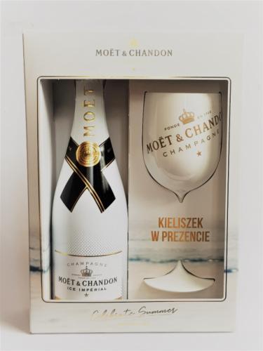 MOET&CHANDON ICE IMPERIAL 750ML + KIELISZEK